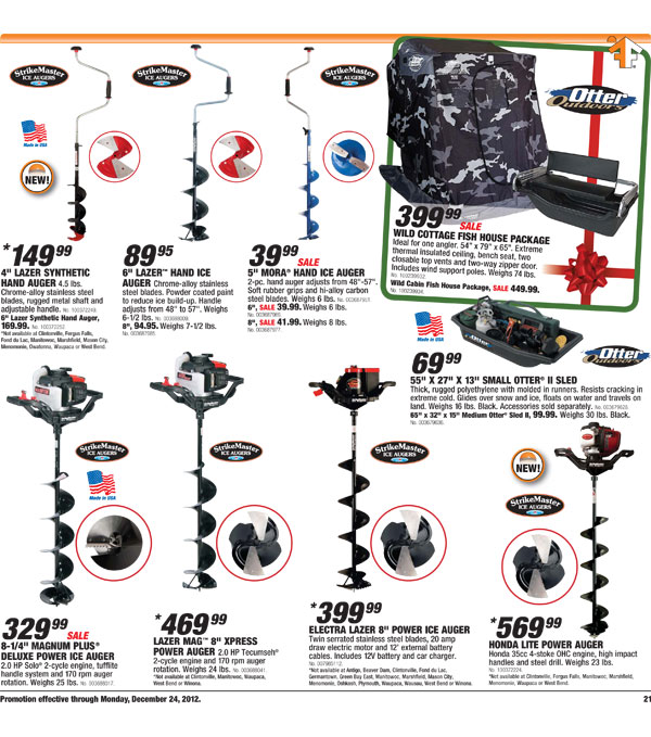 Free shipping w any fishing item for Fleet farm ice fishing