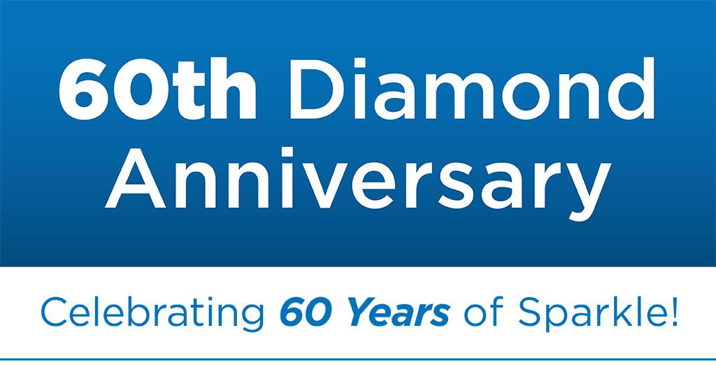 60th Diamond Anniversay. Celebrating 60 Years of Sparkle