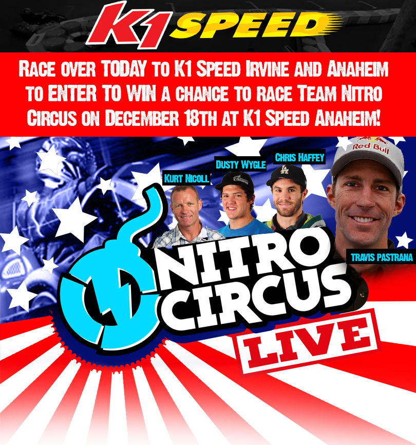 Travis Pastranas Nitro Circus Live at K1 Speed!
