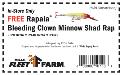 FREE Rapala Bleeding Clown Min...