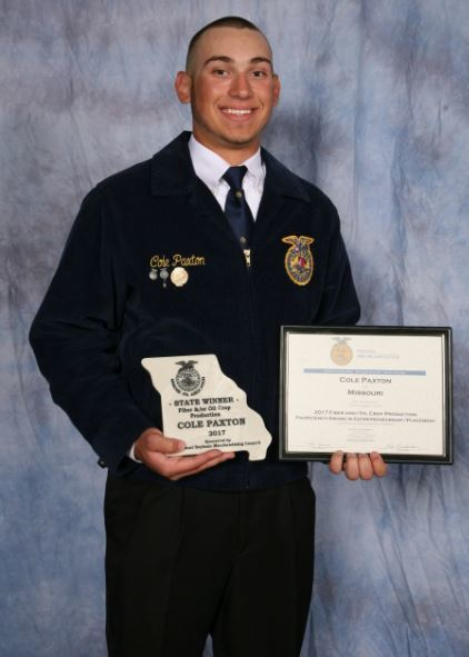 MSMC-sponsored FFA award winner 'going to come back to the farm'