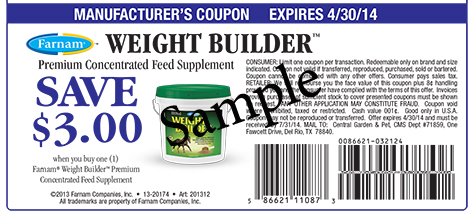 Save $3.00 on Weight Builder