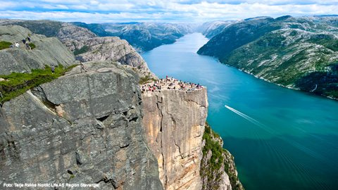 Pulpit Rock Cruise at the Lysefjord