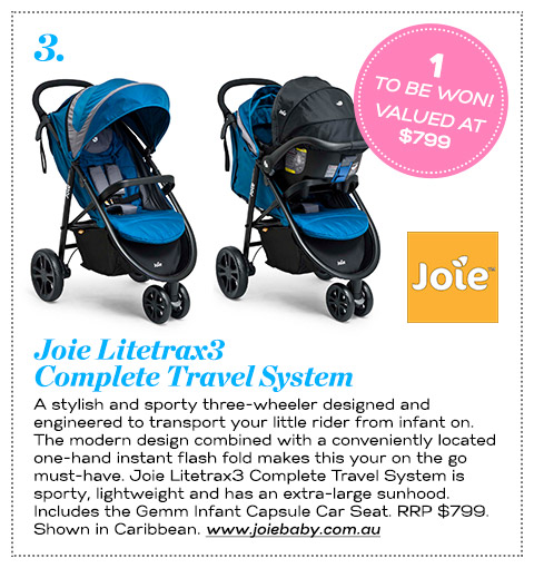 3 Joie Litetrax3 Travel System