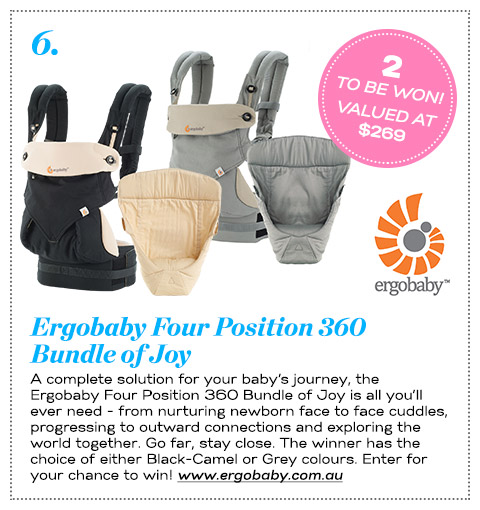 6 Ergobaby Four Position 360 Bundle of Joy
