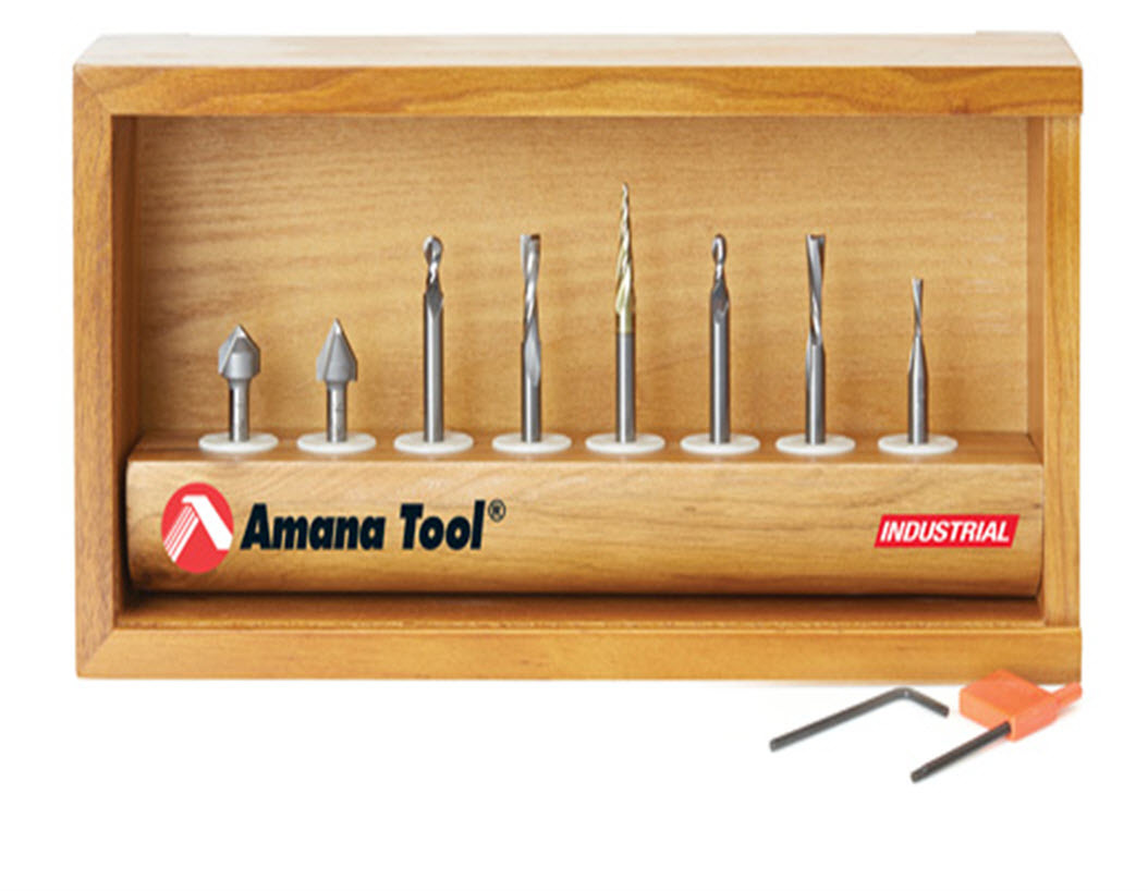 8 Pc CNC Router Bit Collection