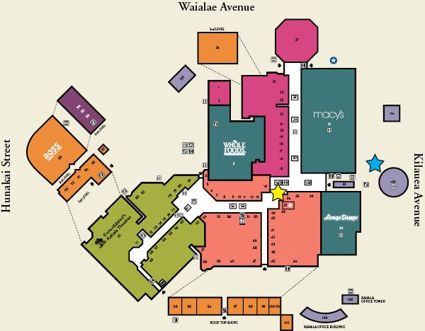Kahala Mall Map