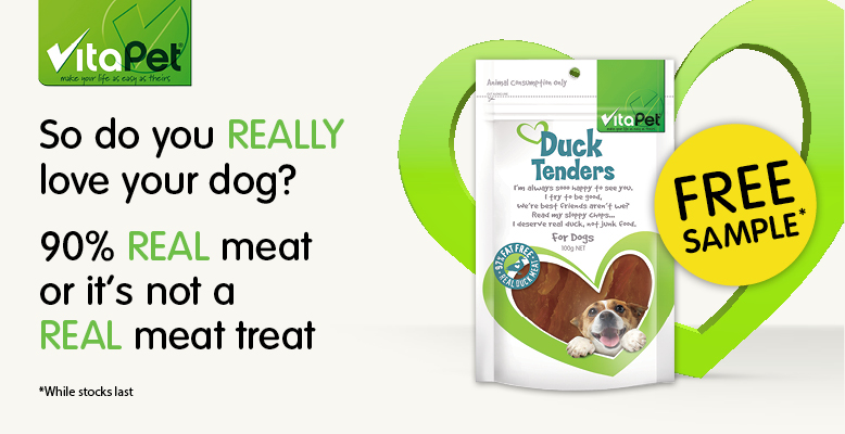 Receive a FREE Sample of Duck Tender from Vitapet