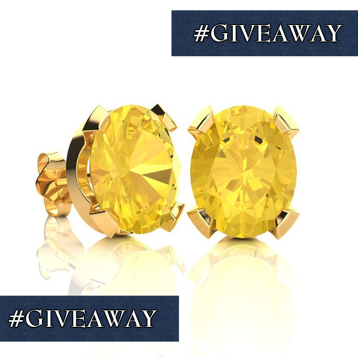 99cf31c9d Rebecca Brinkmeyer Brantn - 2 CARAT OVAL SHAPE CITRINE STUD EARRINGS IN 14K  YELLOW GOLD OVER