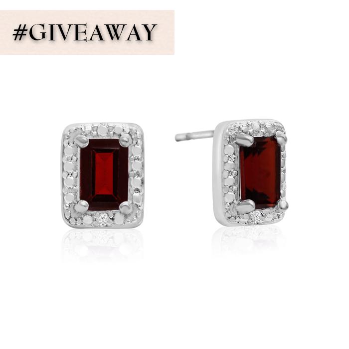 330d29e4b Pam Lafferty - 1 1/2 Carat Emerald Shape Garnet & Halo Diamond Earrings