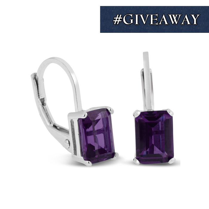 36dea7c53 Sunney Michelle Johnson - 2 Carat Amethyst Leverback Earrings In Sterling  Silver