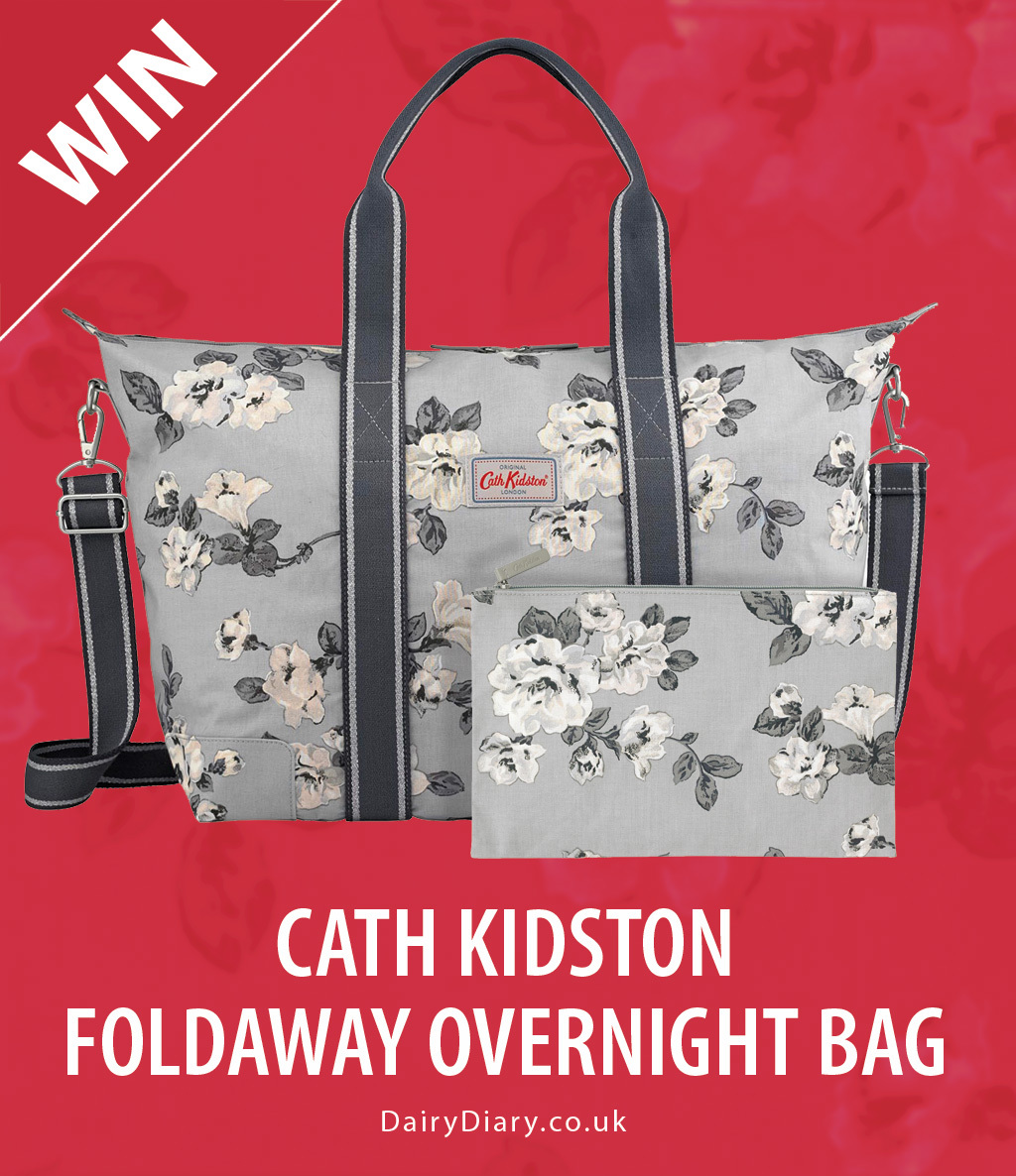 Win a Cath Kidston Foldaway Overnight Bag with the Dairy Diary