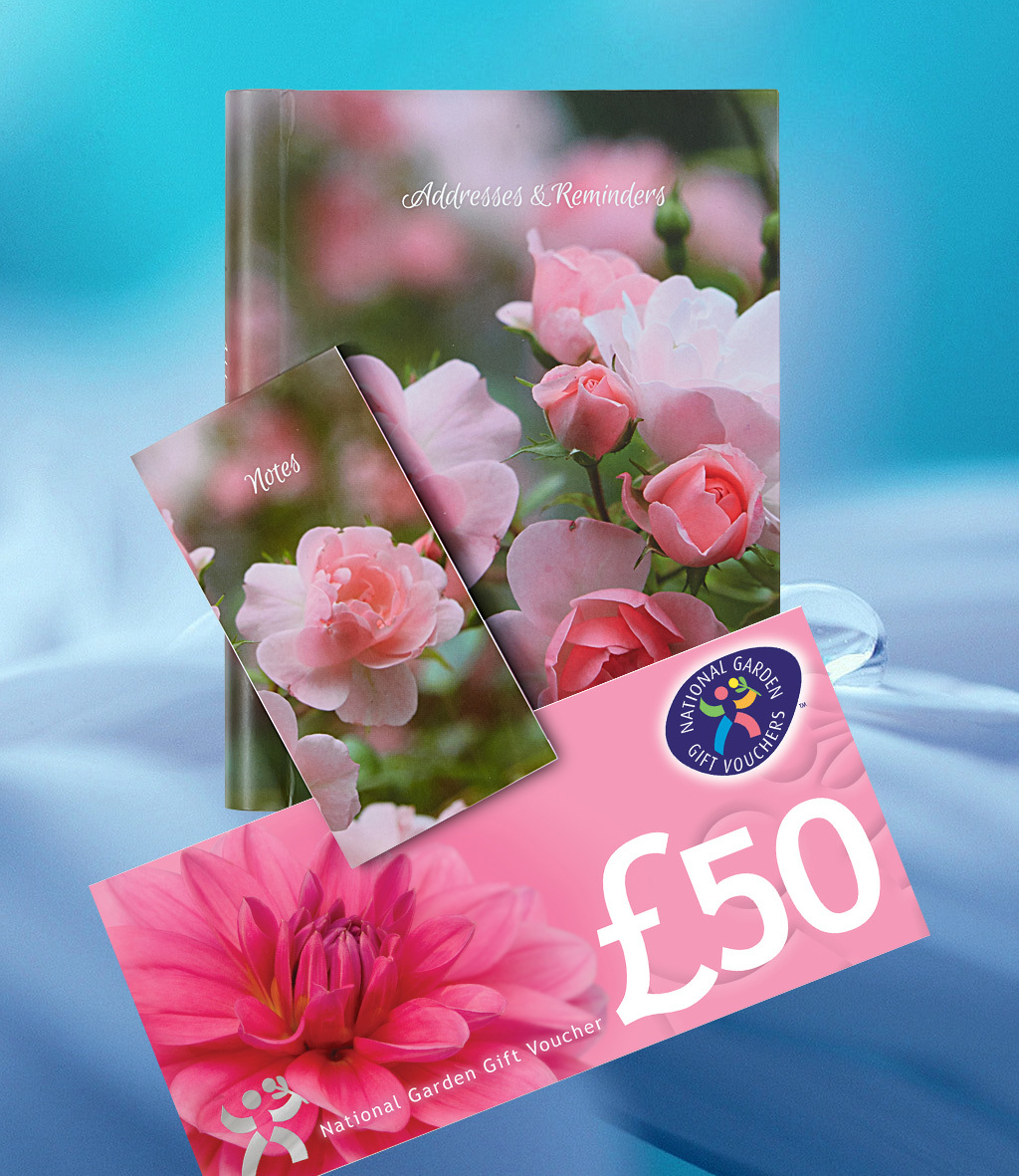 Win a £50 National Garden Gift Voucher plus the new Addresses & Reminders Book and Notepad.