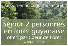 2ème lot : Séjour pour 2 personnes en forêt guyanaise