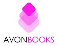 "Avon Books logo featuring three pink diamonds and ""Avon Books"" in a non-serif font."