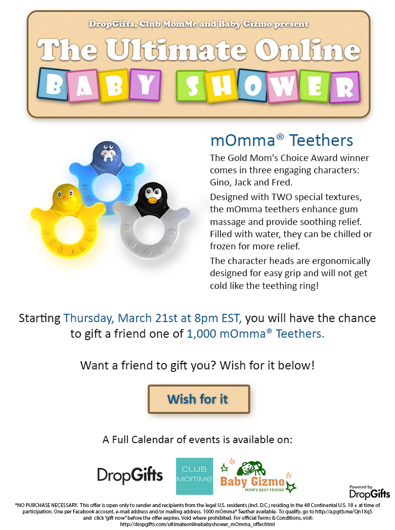 FREE momma Teethers on March 2...