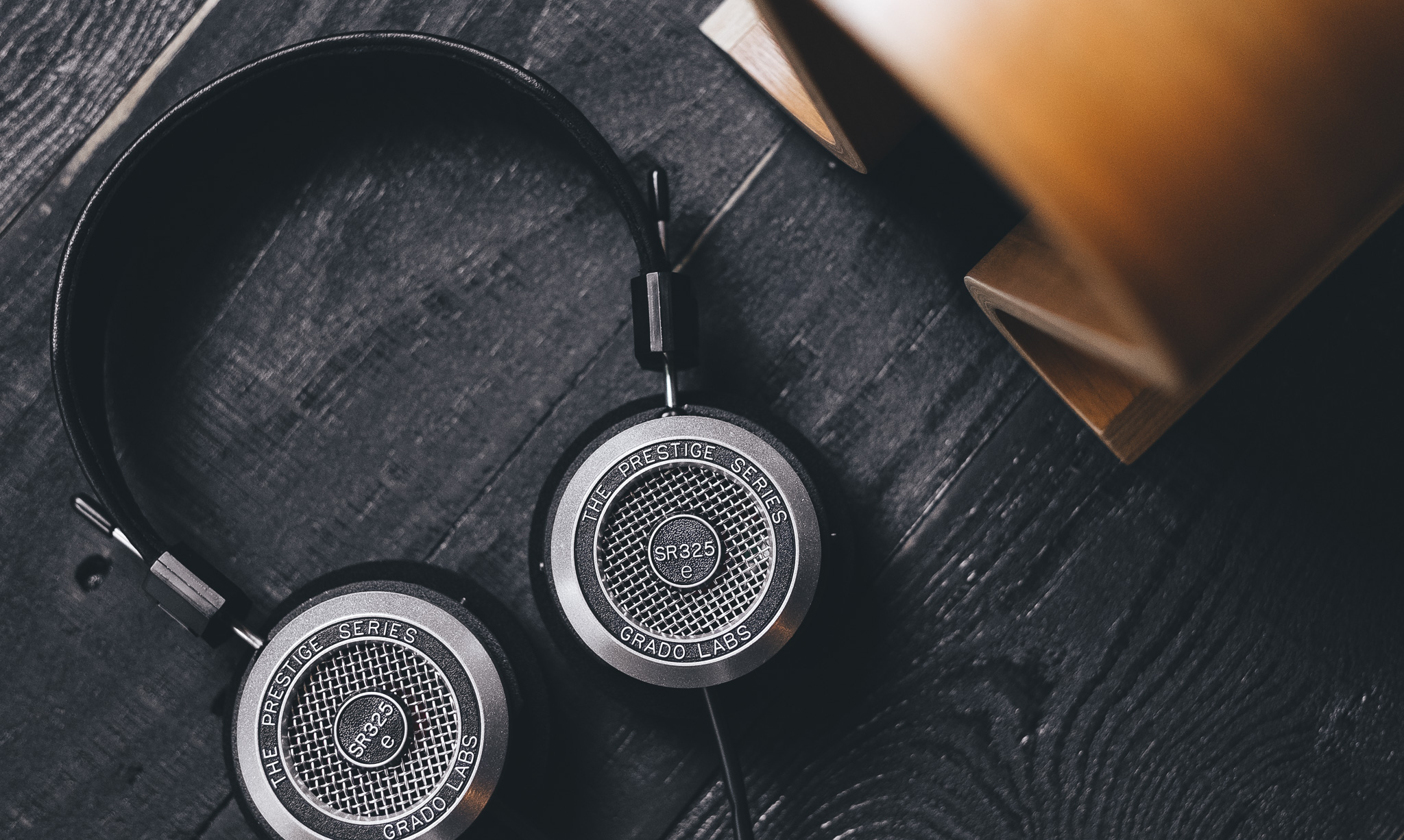 Grado SR325e Headphone on Wood