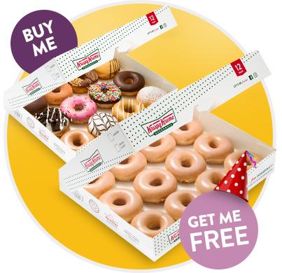 Buy a dozen Get an Original Glazed Dozen free
