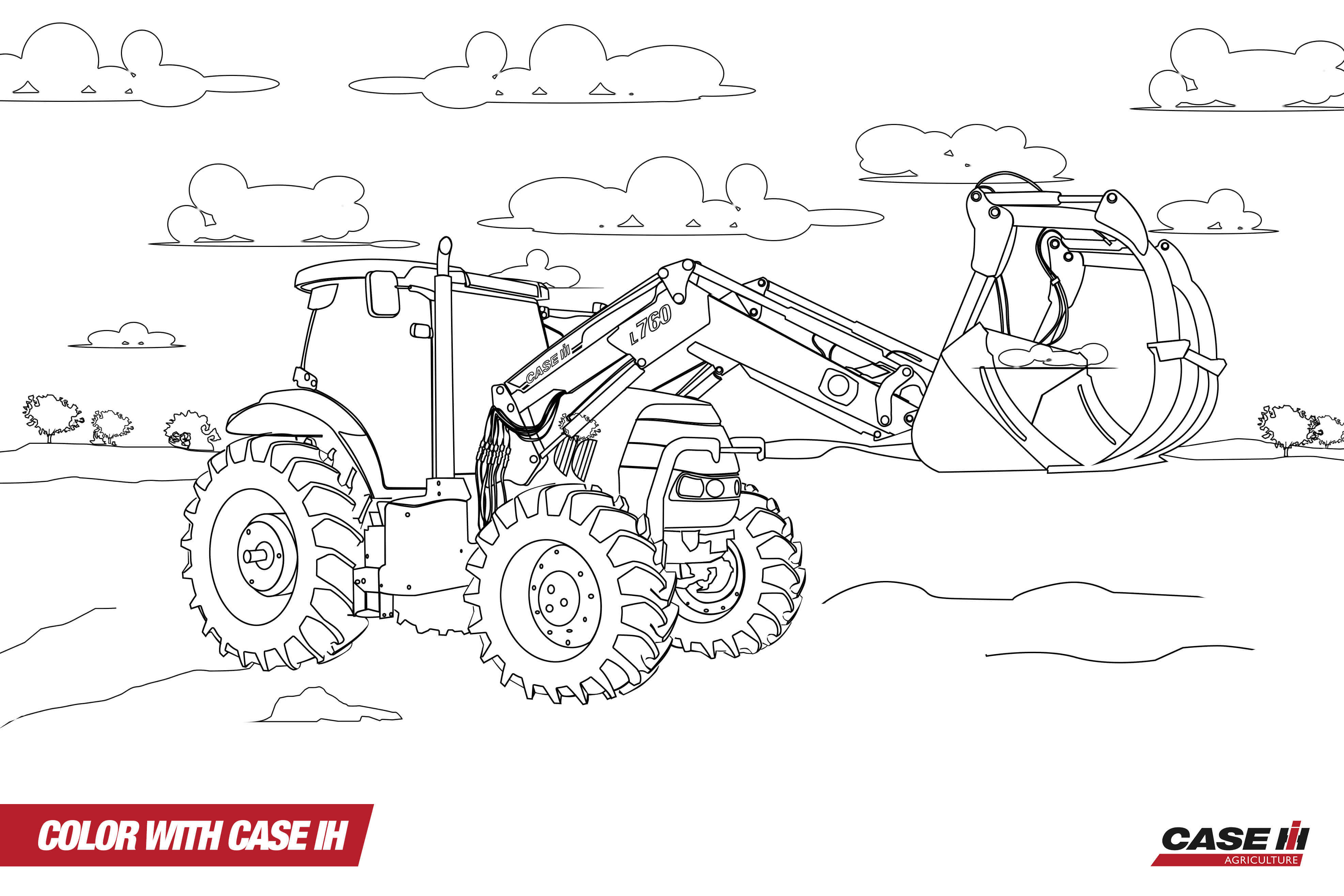 case ih logo coloring pages