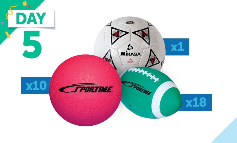 Sportime Mini Footballs, Sportime Playground Balls, Mikasa MegaStar Soccer Ball