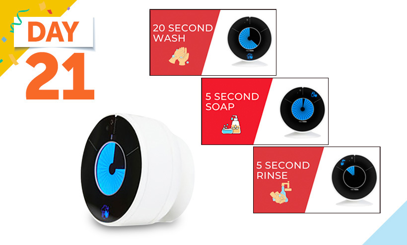 Time Timer Visual and Touchless Handwashing Timer, 30 Seconds