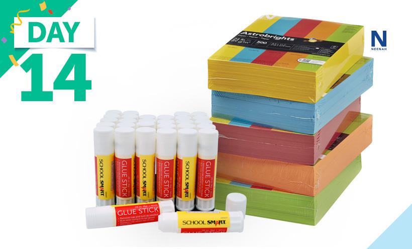 Astrobrights Colored Paper, School Smart Glue Sticks