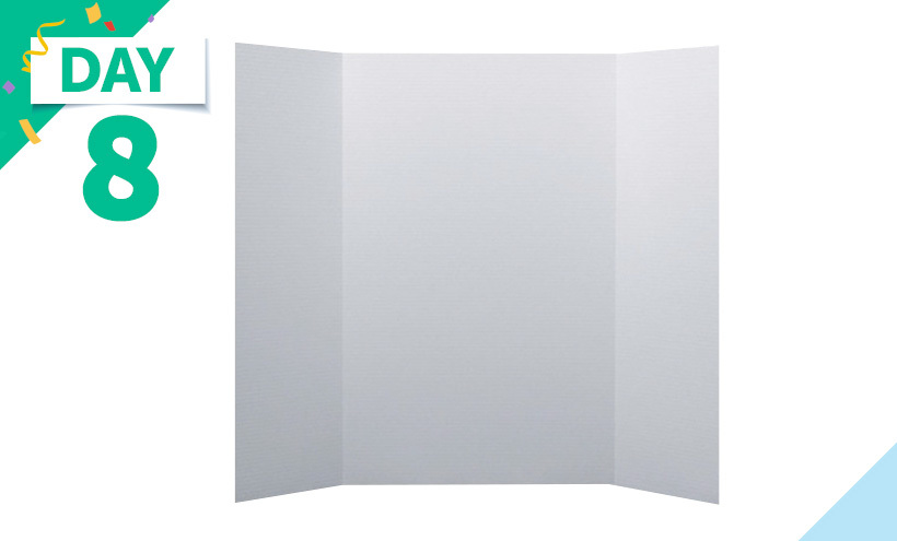 School Smart Project Board, 48 x 36 Inches, White, Pack of 24 Corrugated display boards used for projects, booths, fairs, and all types of displays.