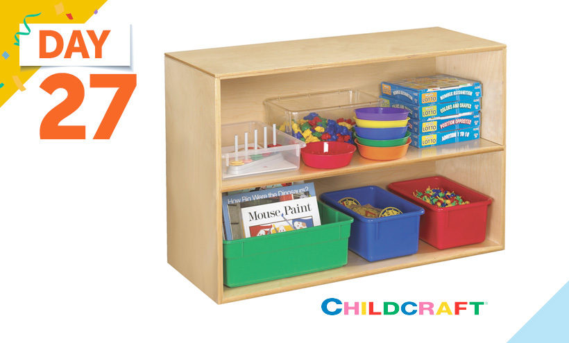 Childcraft Deep Shelf Storage Unit, 2 Shelves