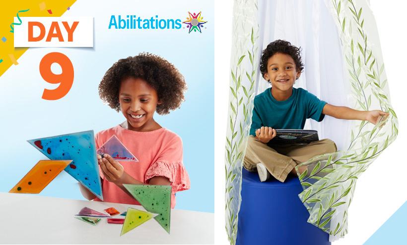 Abilitations Reading Canopy,Abilitations Tangram Gel Fidgets