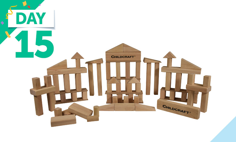 Childcraft Standard Unit Block Set, 80 Pieces