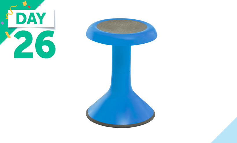 Classroom Select NeoRok Stool, Active Wobble Seating, Rubber Seat, 18-1/2 Inch Seat Height, Marine