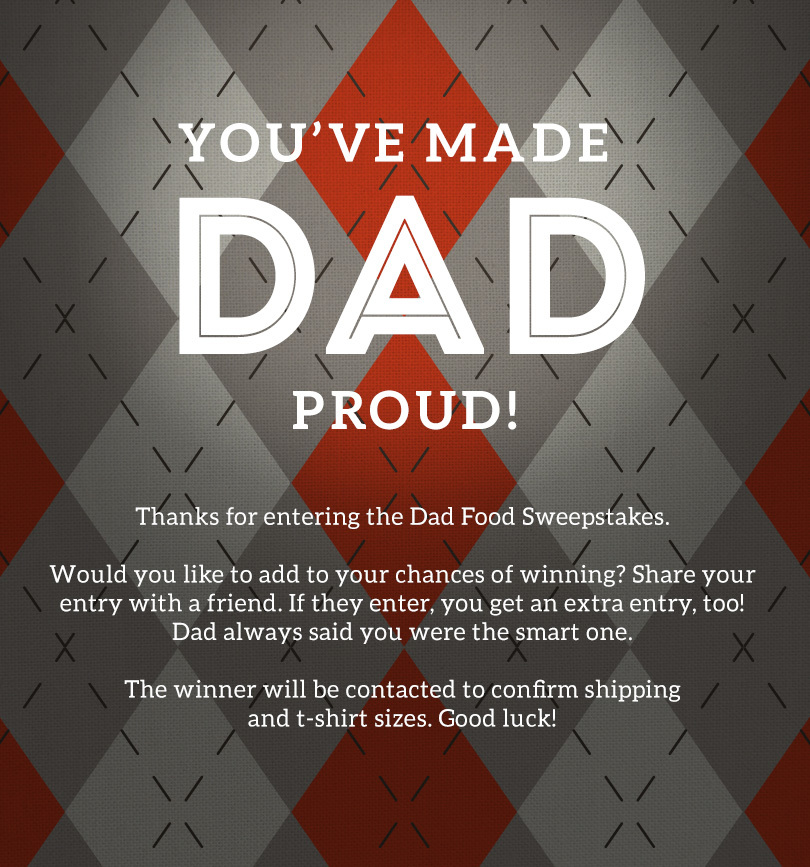 You've made Dad proud