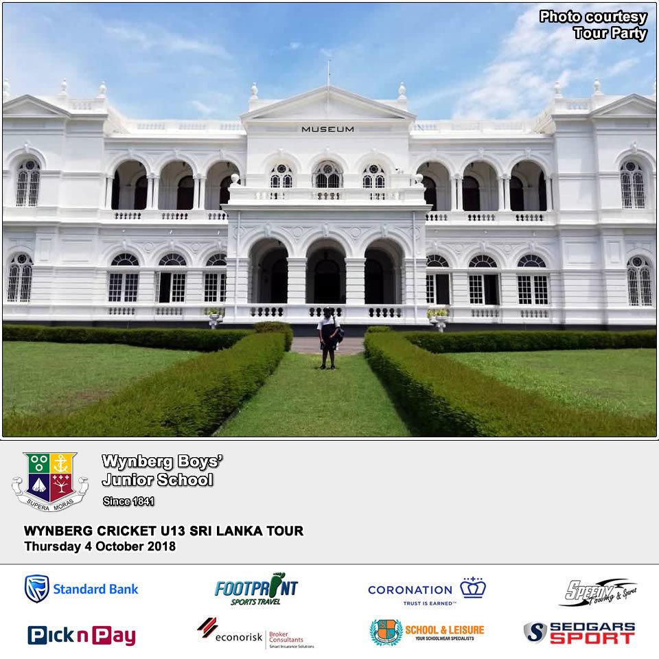 Visiting the Sri Lanka Museum, Thursday 4 October 2018