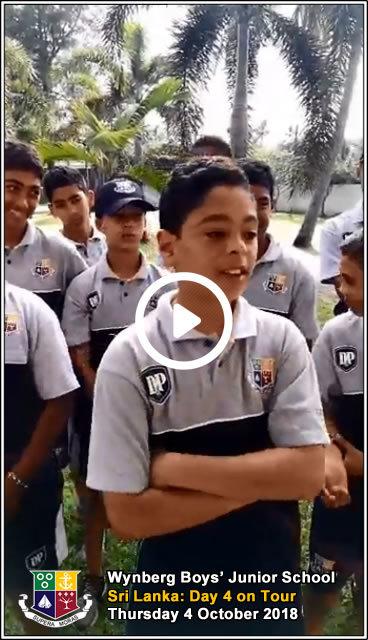 Day 4, Thursday 4 October 2018 - Greetings from Wadduwa, Sri Lanka