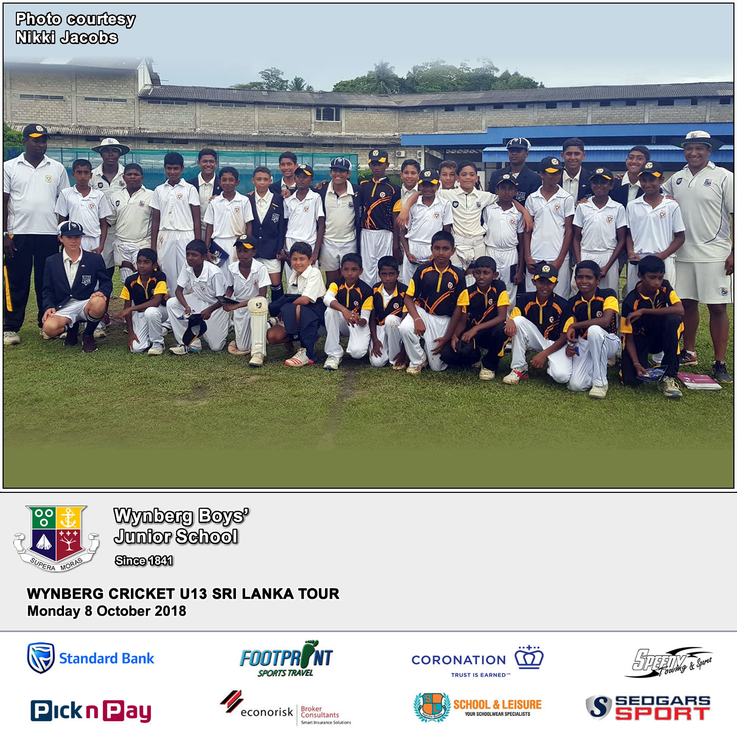 Day 8, Match 4 against Mahinda College, Monday 8 October 2018
