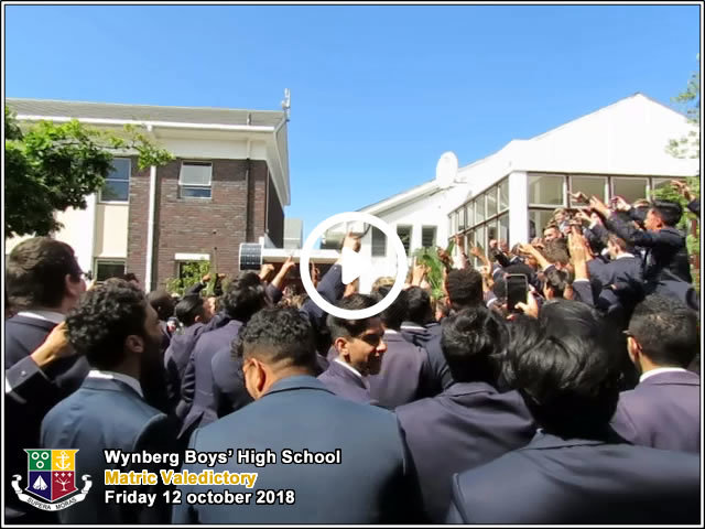 Video: Matrics Readying to Enter the Clegg Hall, Friday 12 october 2018