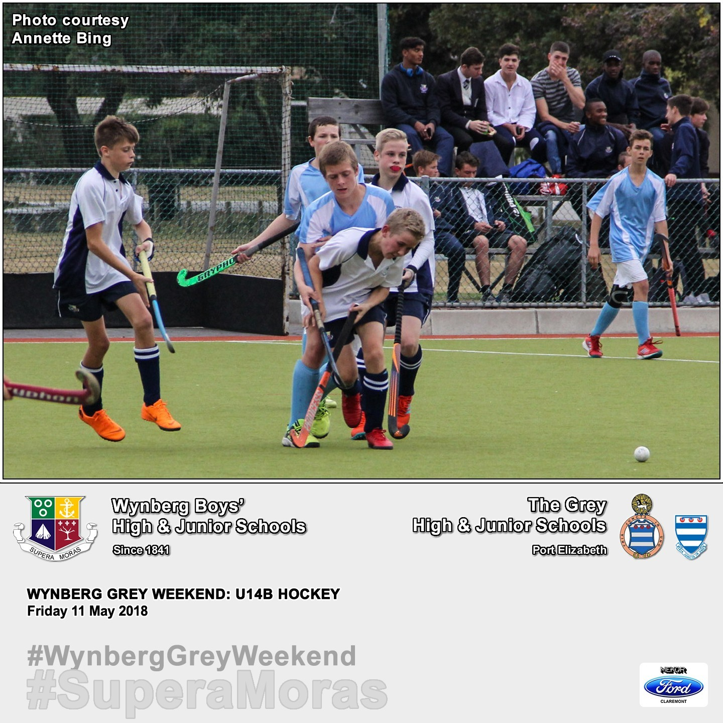 U14B vs Grey High, Friday 11 May 2018