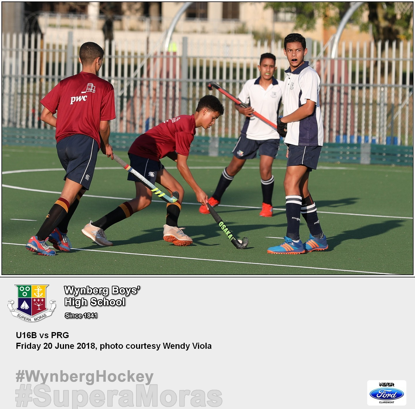 U16B vs Paul Roos, Friday 20 July 2018