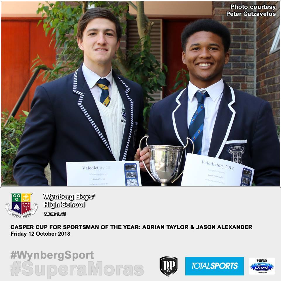 Casper Cup for Sportsman of the Year, Friday 12 October 2018