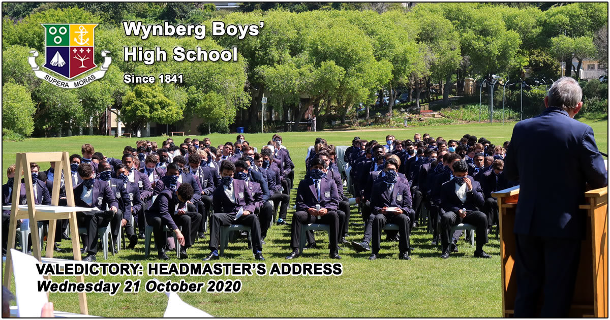 Website: Mr De Waal's Valedictory Address, and Charge to the Matrics