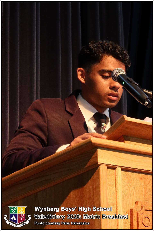 Website: Valedictorian, Imtiyaaz Dollie's Address