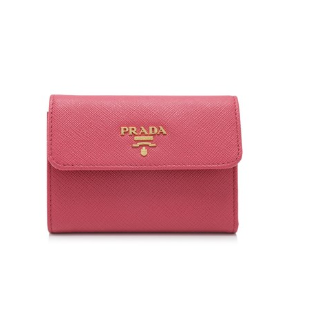 Prada Saffiano Metal Short Flap Wallet