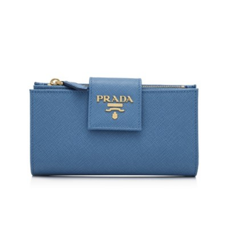 Prada Saffiano Metal Medium Flap Wallet