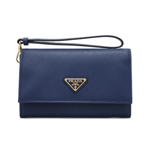 Prada Saffiano Triangle Wallet