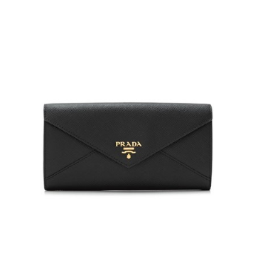 Prada Saffiano Letter Long Flap Wallet