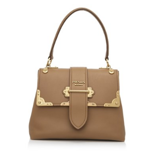 Prada City Calf Cahier Handbag