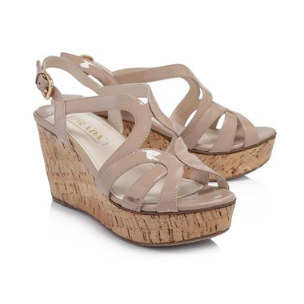 Prada Cork Platform Wedges
