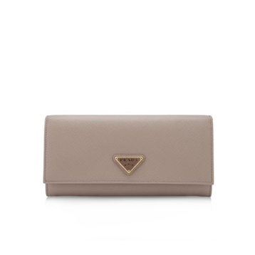 Prada Saffiano Triangle Flap Wallet