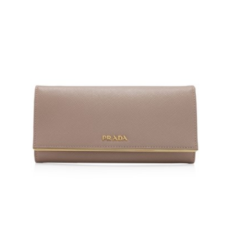 Prada Saffiano Metal Long Flap Wallet