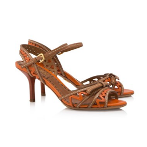 Prada Laser Cut Bow Sandals